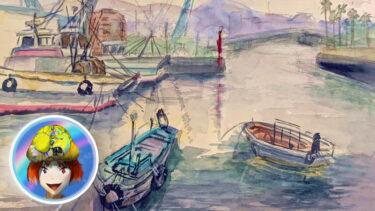 小松島漁港。金磯弁財天。スケッチ会に異変がありましたの!