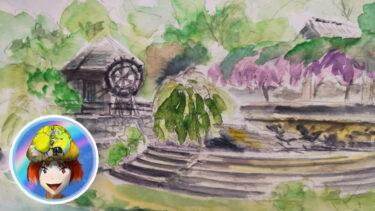 神山町。農村ふれあい公園で心の友ゲット。スケッチもしてきましたの!
