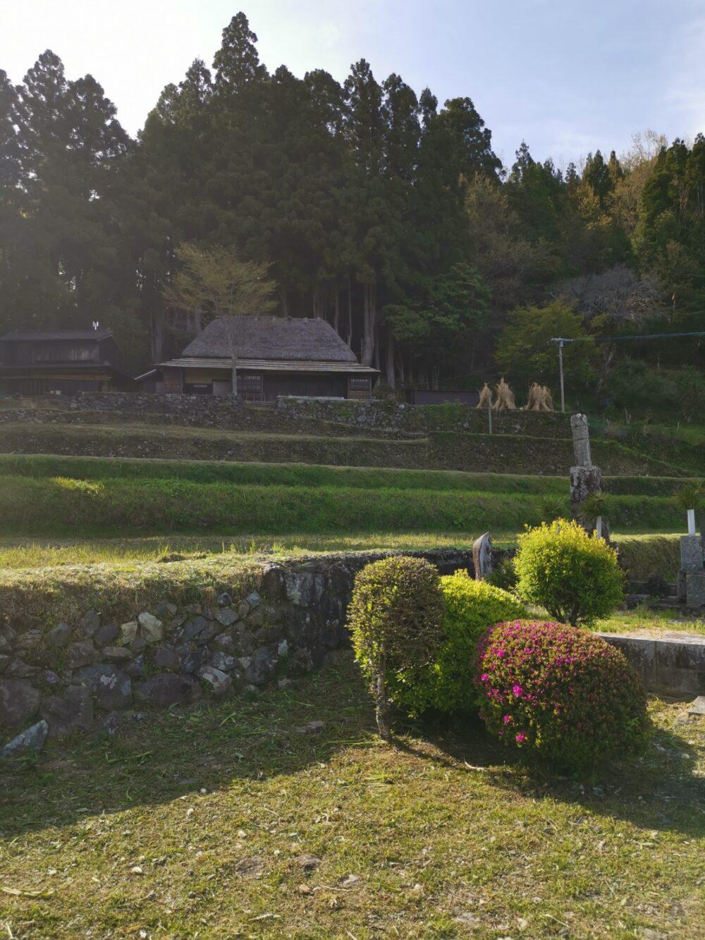 徳島県、茅葺き民家、花野邸