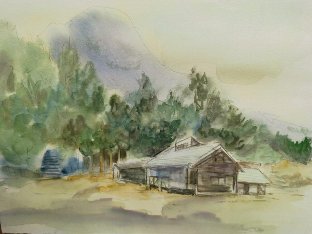 徳島県の高丸山。駐車場