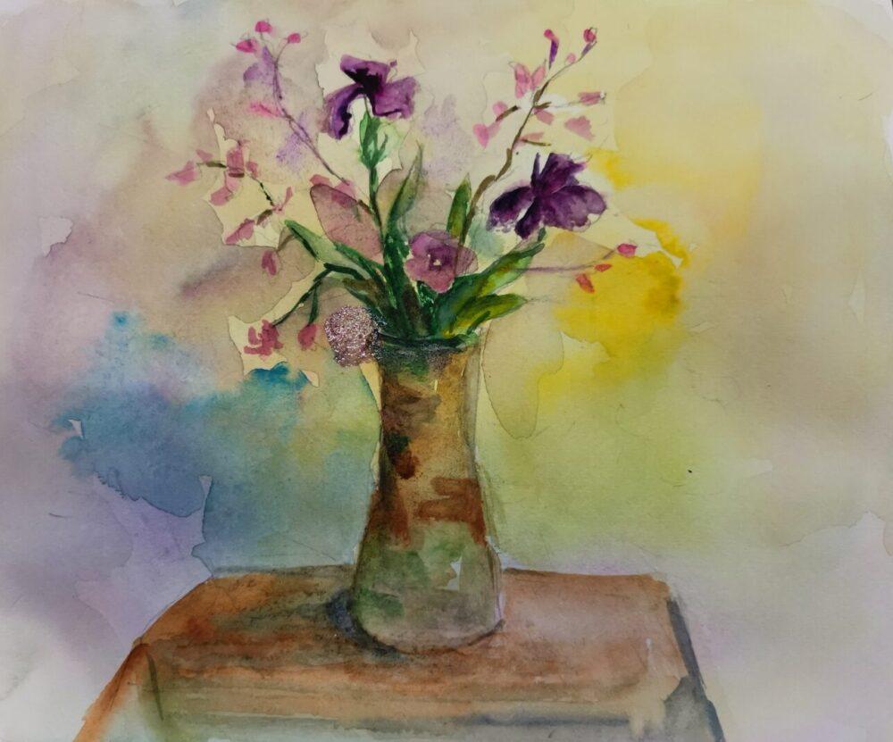オンラインスケッチ。花瓶。