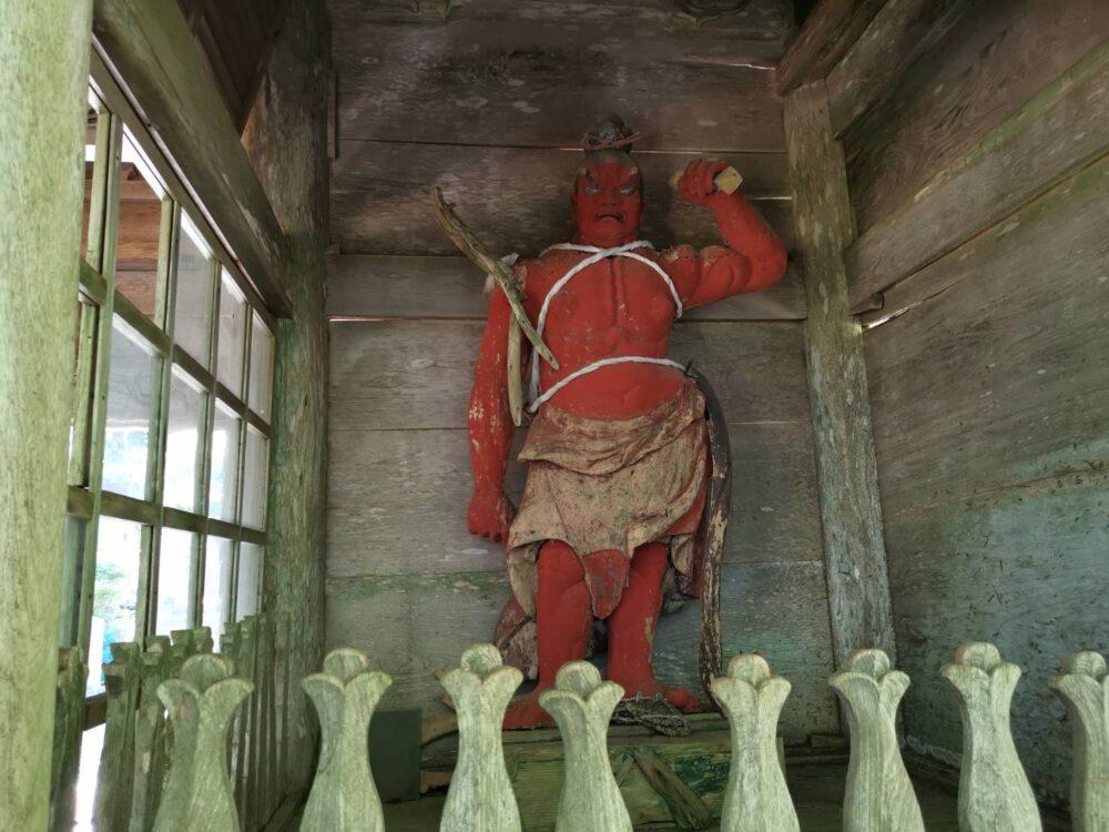 高越寺。金剛力士像「阿」
