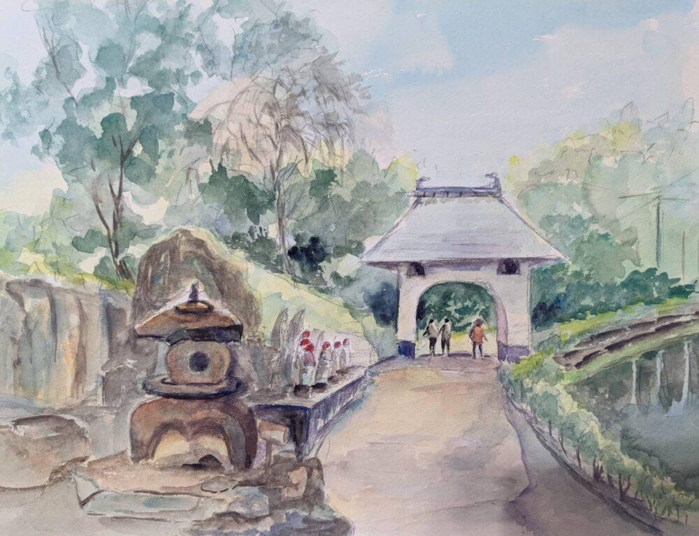 童学寺。スケッチ