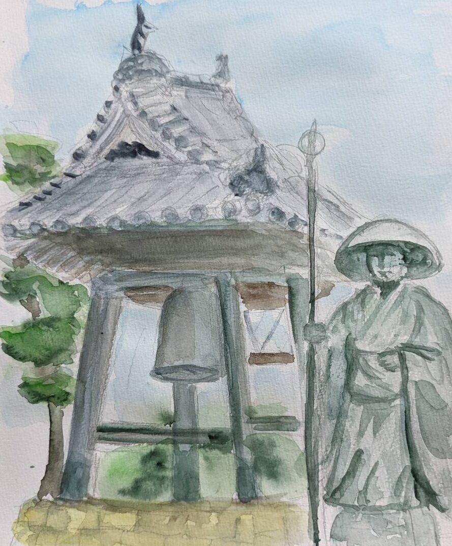 地蔵寺をスケッチ。Sさん作。
