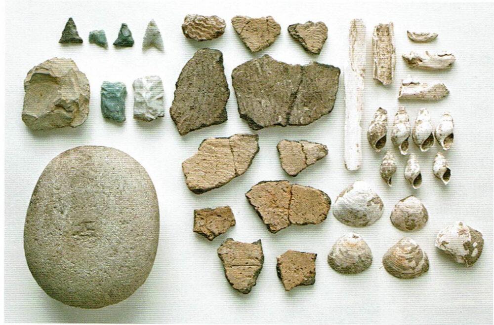 縄文時代の道具。古岩屋陰遺跡。