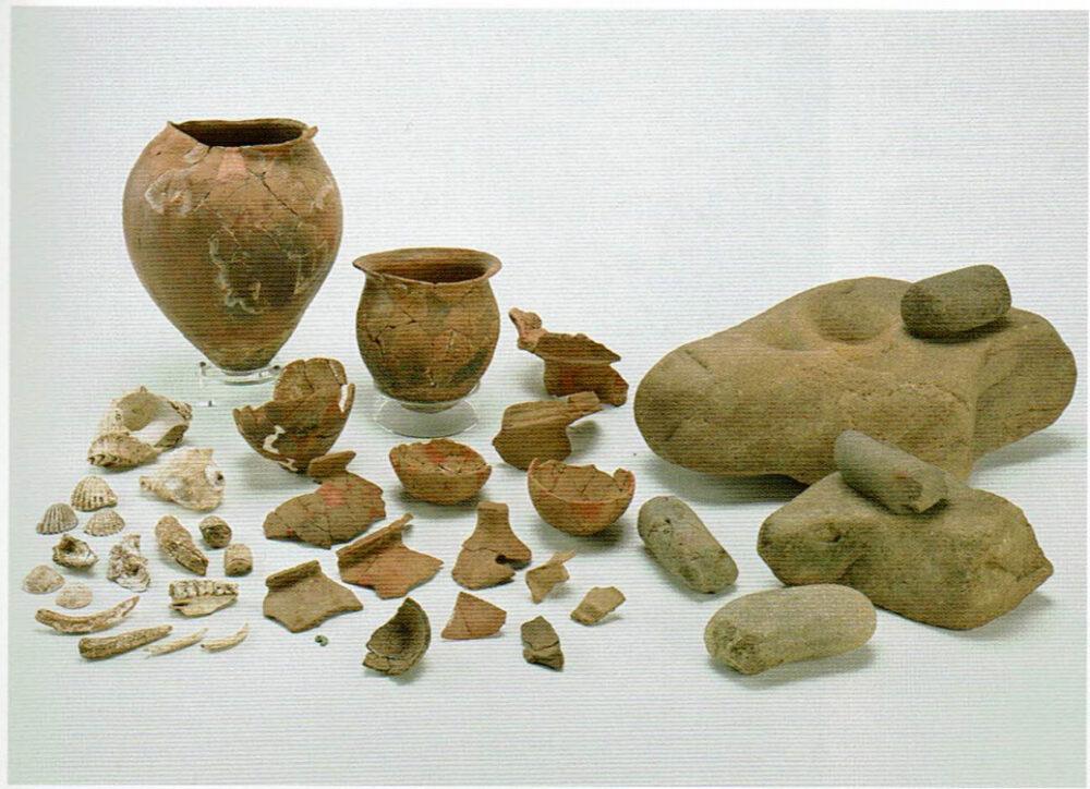 弥生時代の道具。若杉山辰砂採掘遺跡。