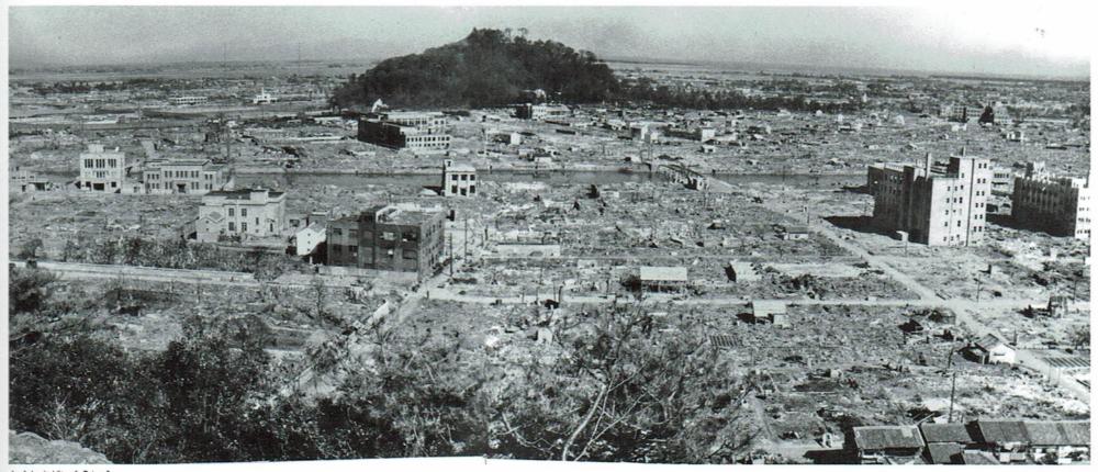 徳島大空襲後の市街地