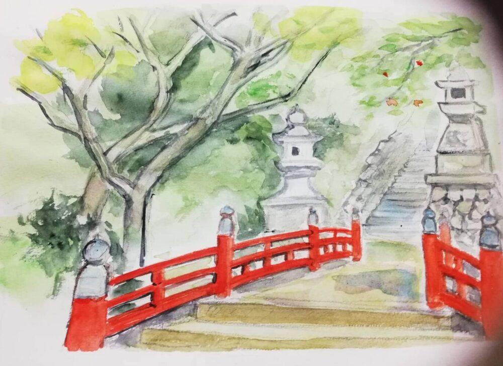 如意輪寺のスケッチ