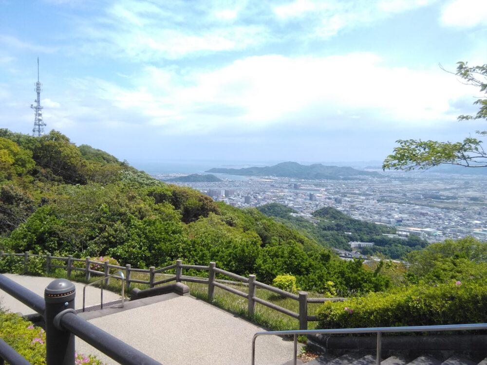 眉山から見下ろす風景