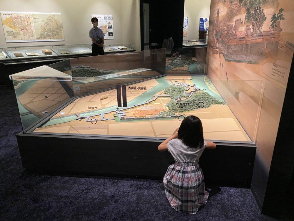 徳島城の模型(縮尺1/300)。
