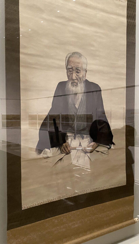 守住貫魚の肖像。守住貫魚の息子の勇魚が描きました。